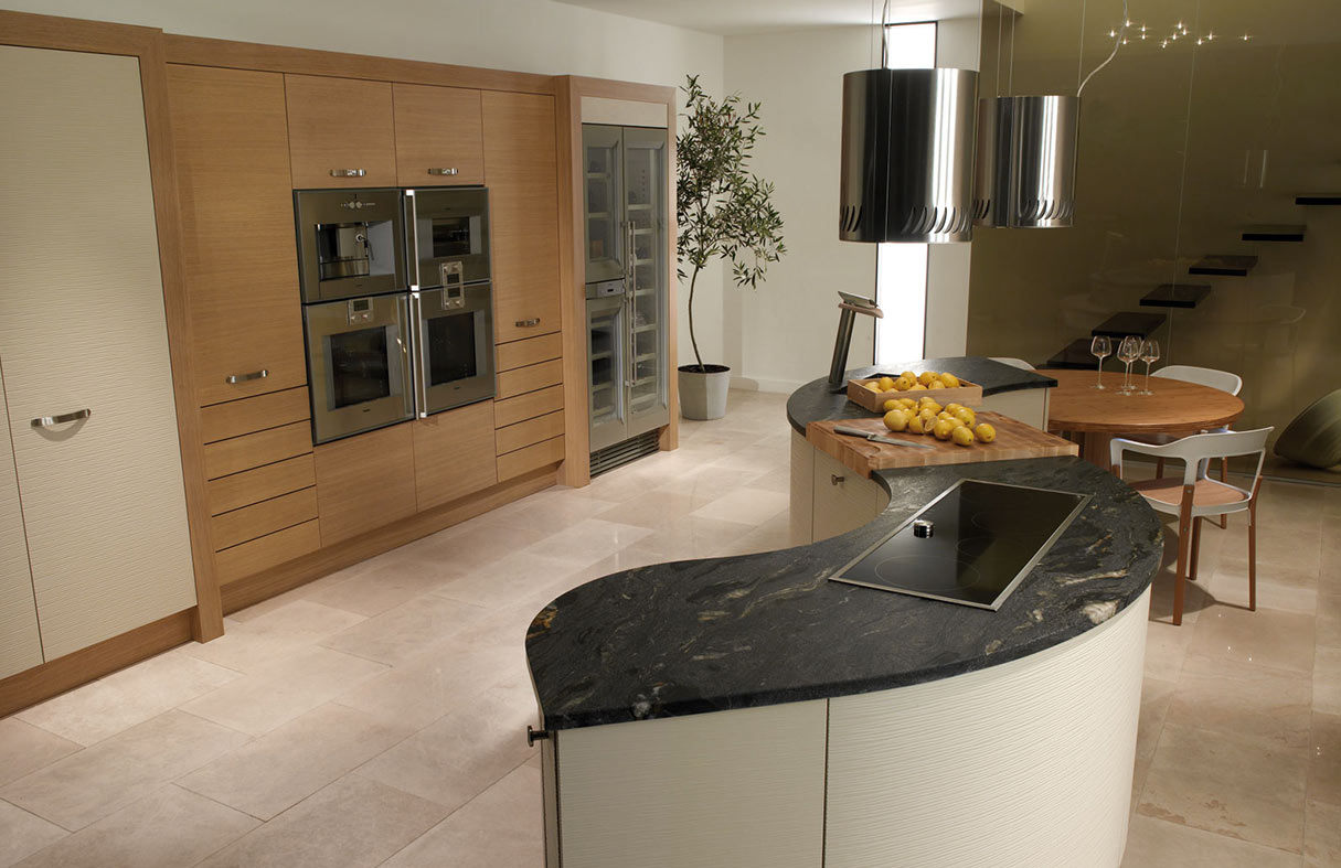 Curved Modern Kitchens - Handmade Bespoke Kitchens by