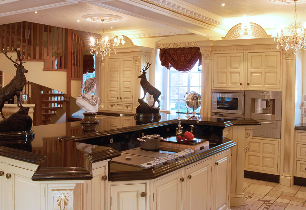 ornate kitchen island