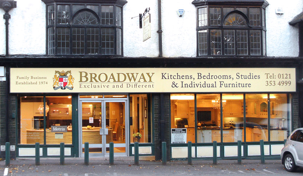 Visit our Broadway Midlands Kitchen Showroom