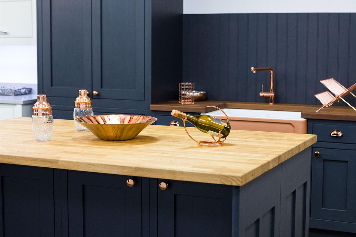 Broadway graphite in-frame shaker kitchen